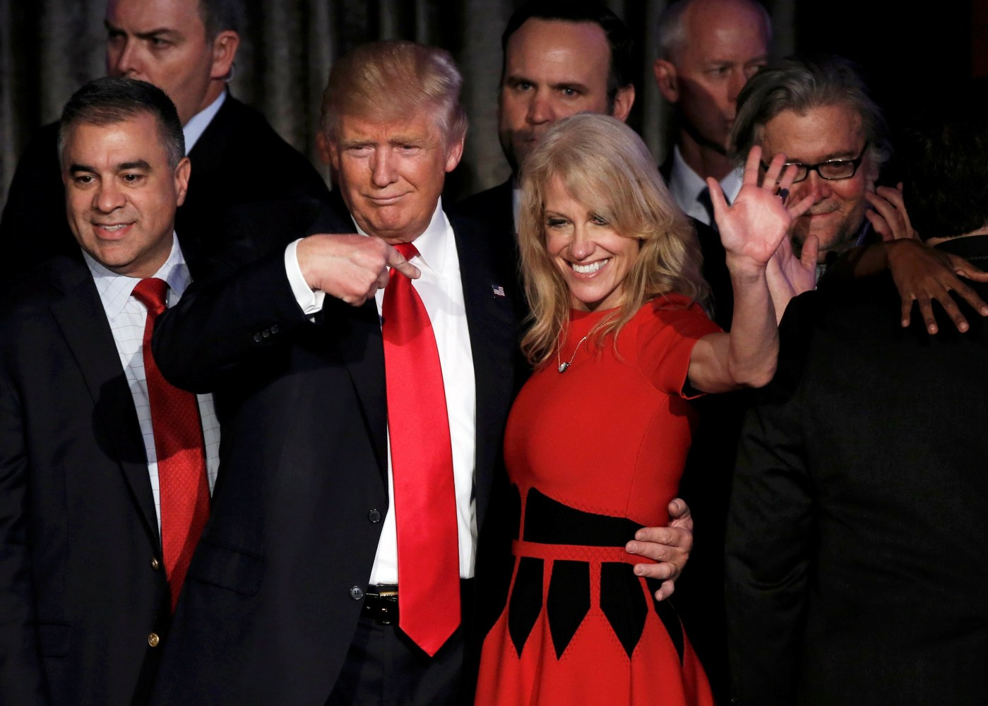 trump s campaign chief kellyanne conway as counselor to the image donald trump and kellyanne conway pictured after his victory