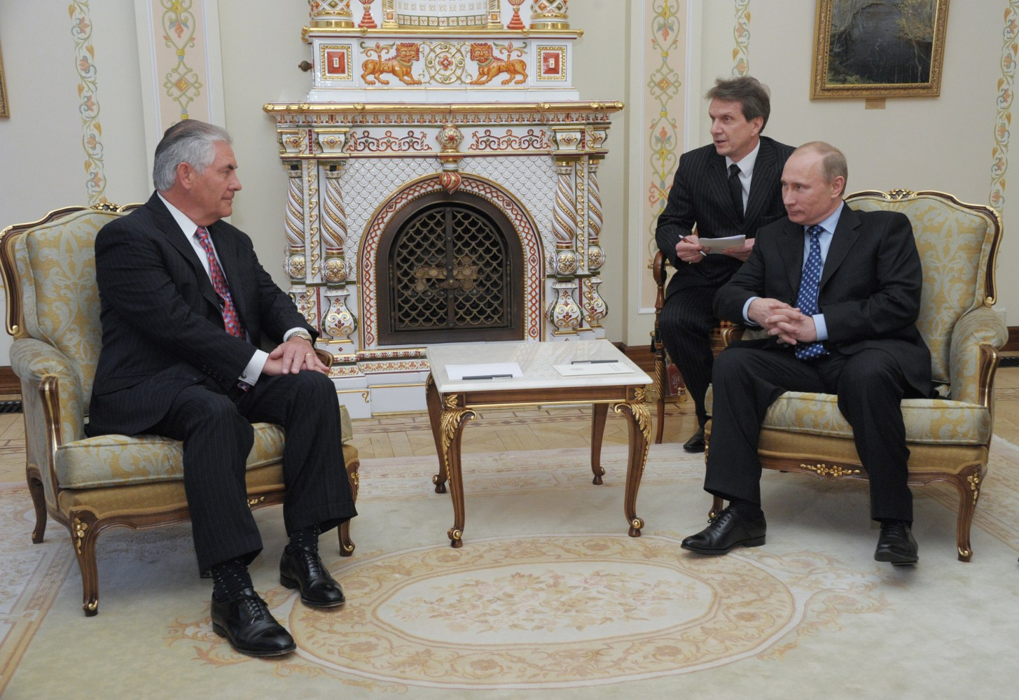 Image result for photos of rex tillerson w Trump russians