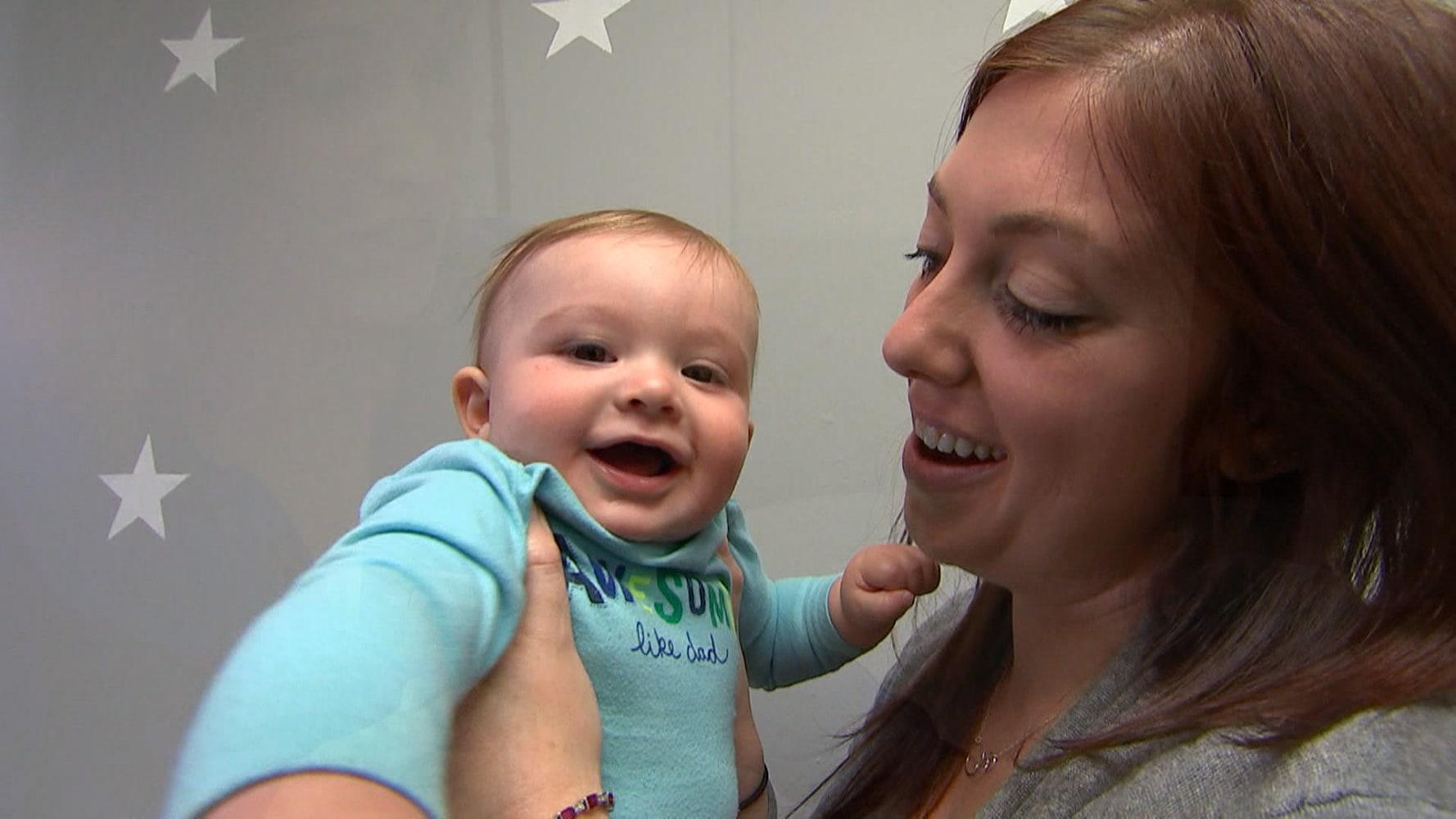 Jocelyn Maynes and her son Bronson NBC News