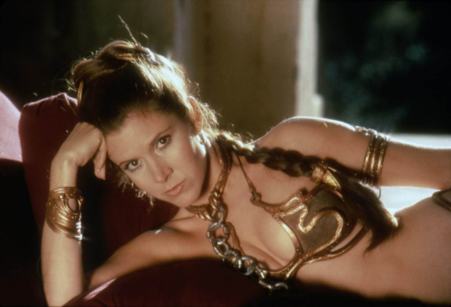On The Set Of Star Wars: Episode Vi  Return Of The Jedi Carrie Fisher