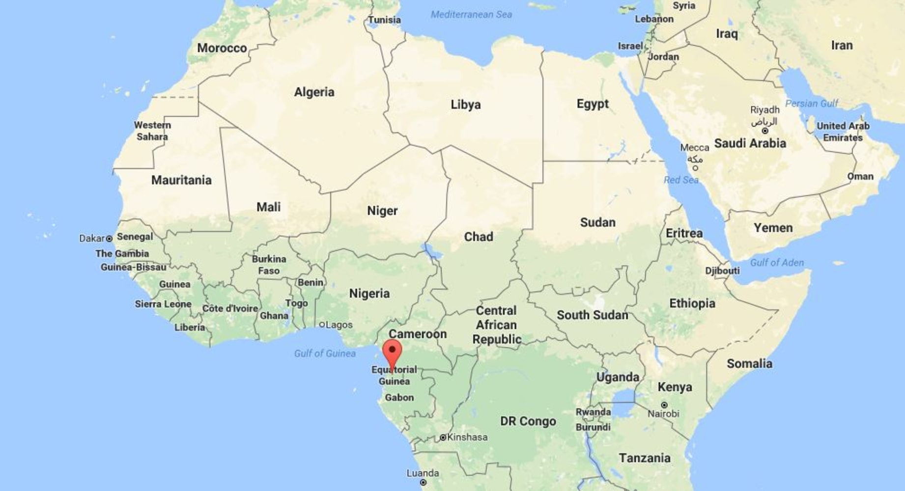 Equatorial Guinea Presidents Son Goes On Trial Over M In - Equatorial guinea map