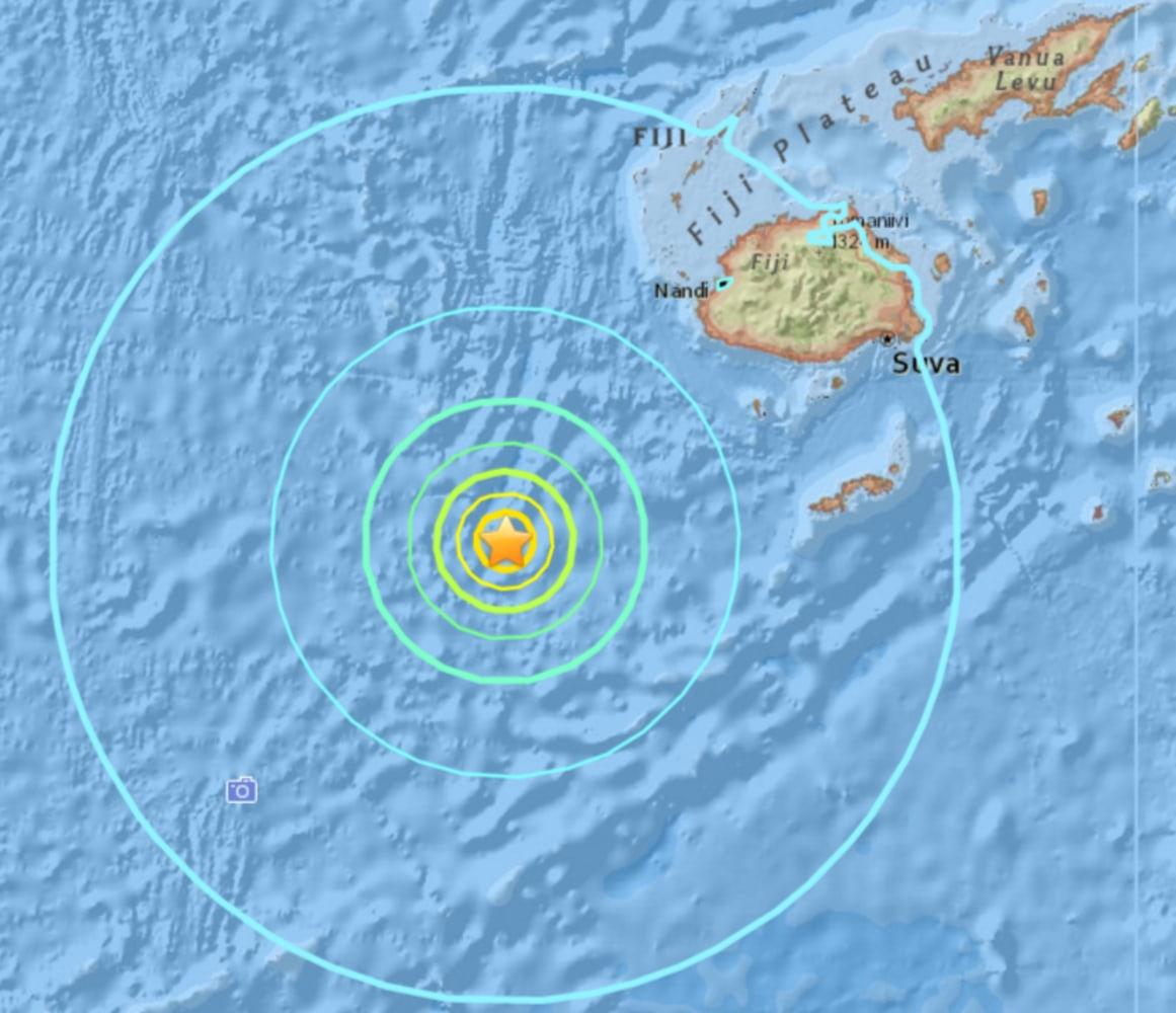 A 7.2 magnitude natural disaster hits Fiji