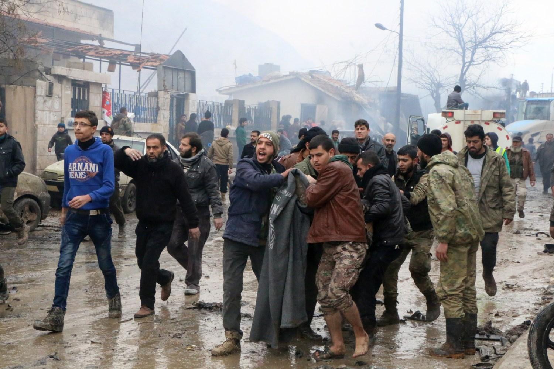 Blast in Syrian town on Turkish border kills nearly 50