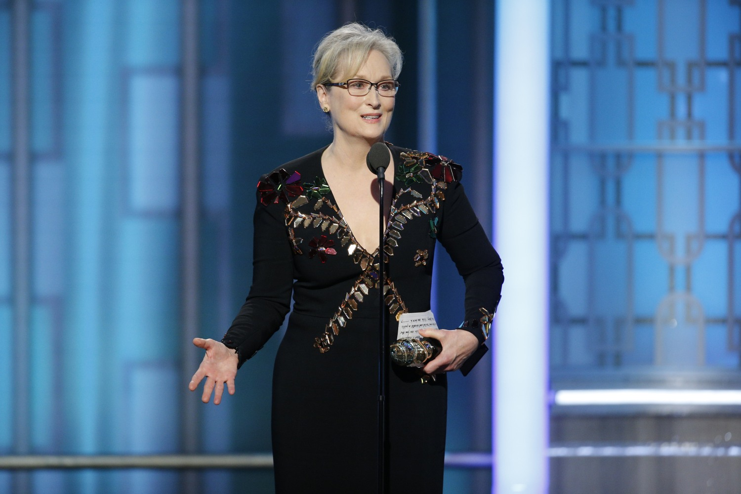 Image result for meryl streep golden globes 2017 speech 2014