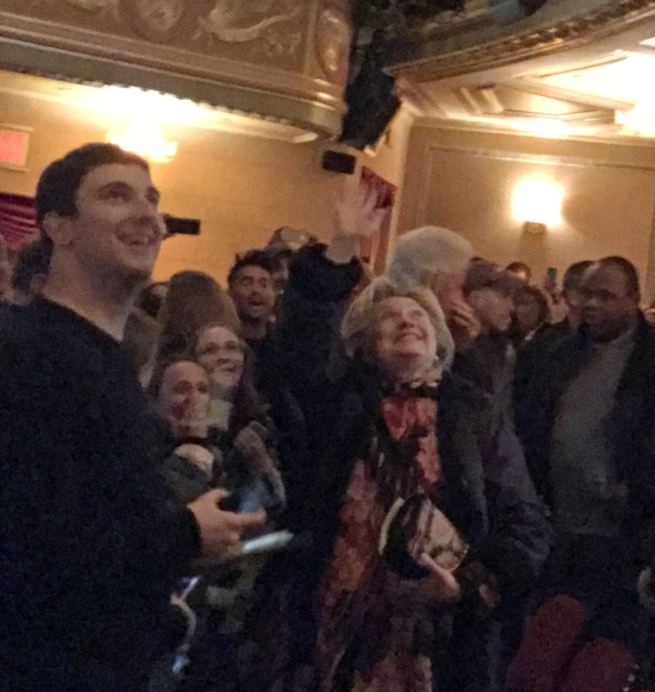 Hillary Clinton Gets Standing Ovation at 'The Color Purple'
