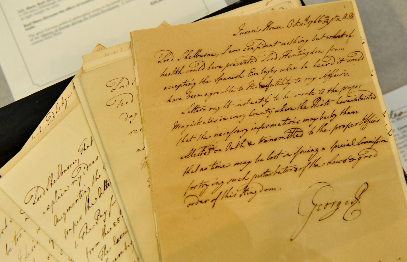a letter to king george iii Continue reading the abdication speech of george iii  draft letter to the prince of wales in which george  king george, vi no 4259 george iii.