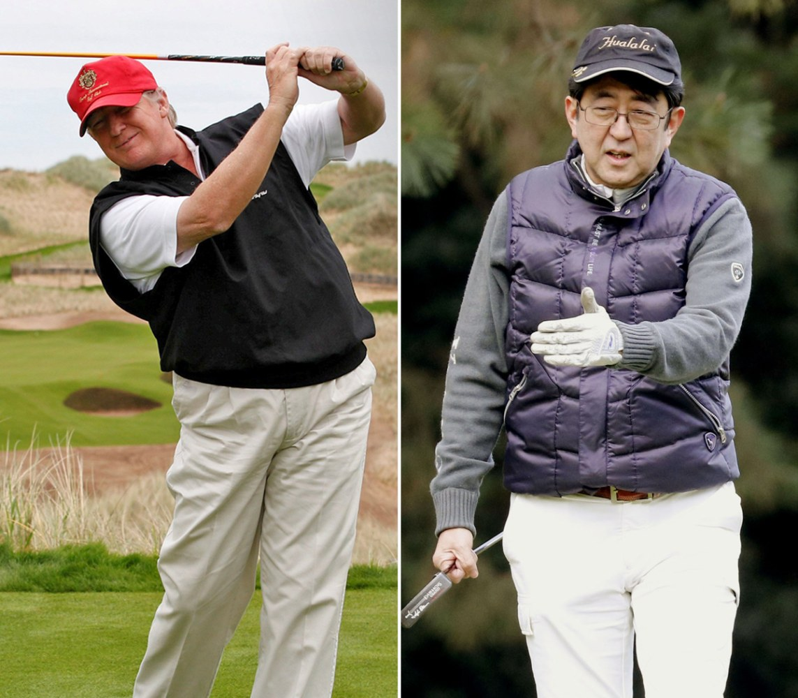 Japanese PM's Golf Trip To Trump Resort Hits Ethical Sand TrapBreaking News EmailsBreaking News Emails