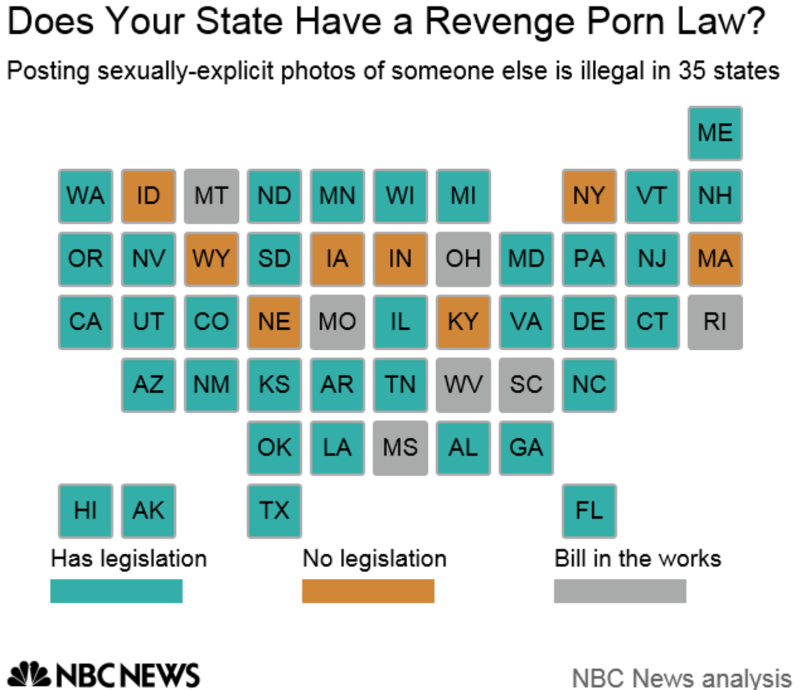 Revenge porn by state