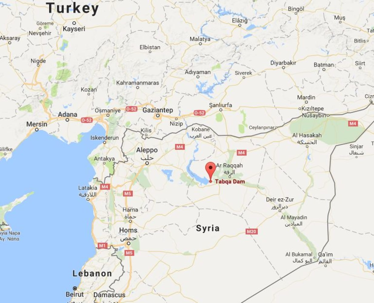 ISIS USBacked Forces Battle Over Syrias Tabqa Dam NBC News - Where is syria located on the map