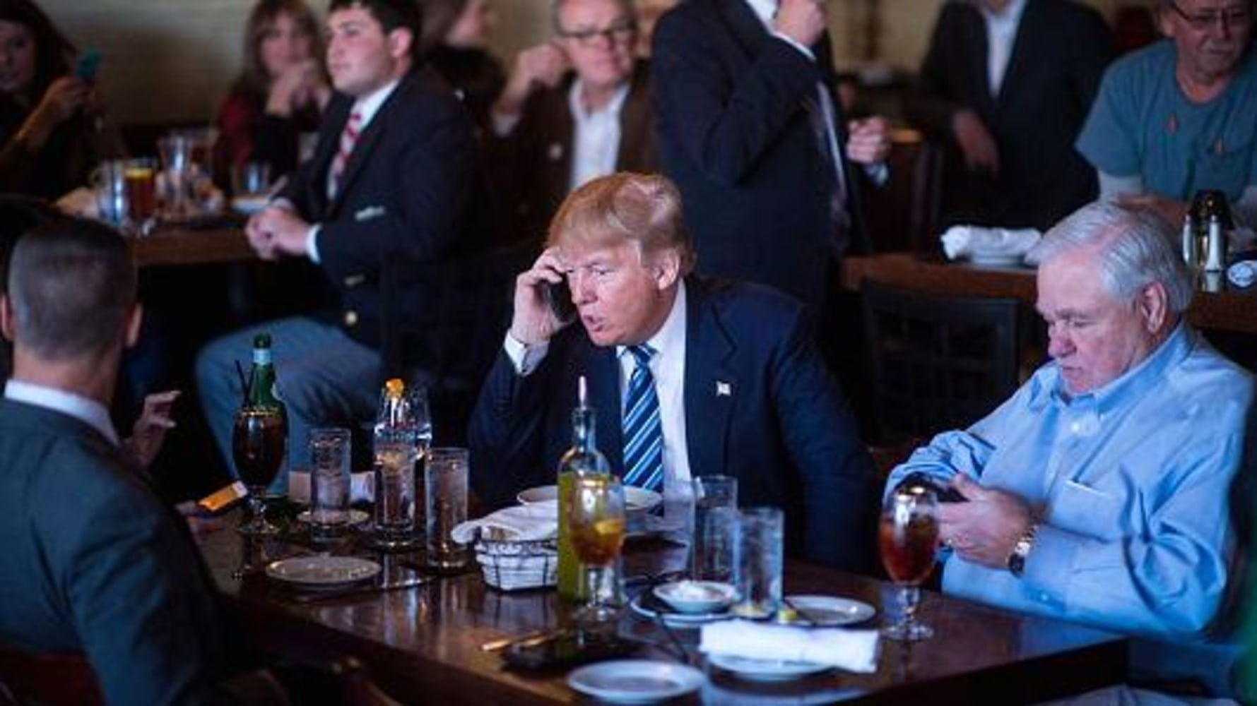 Donald Trump is using an iPhone now