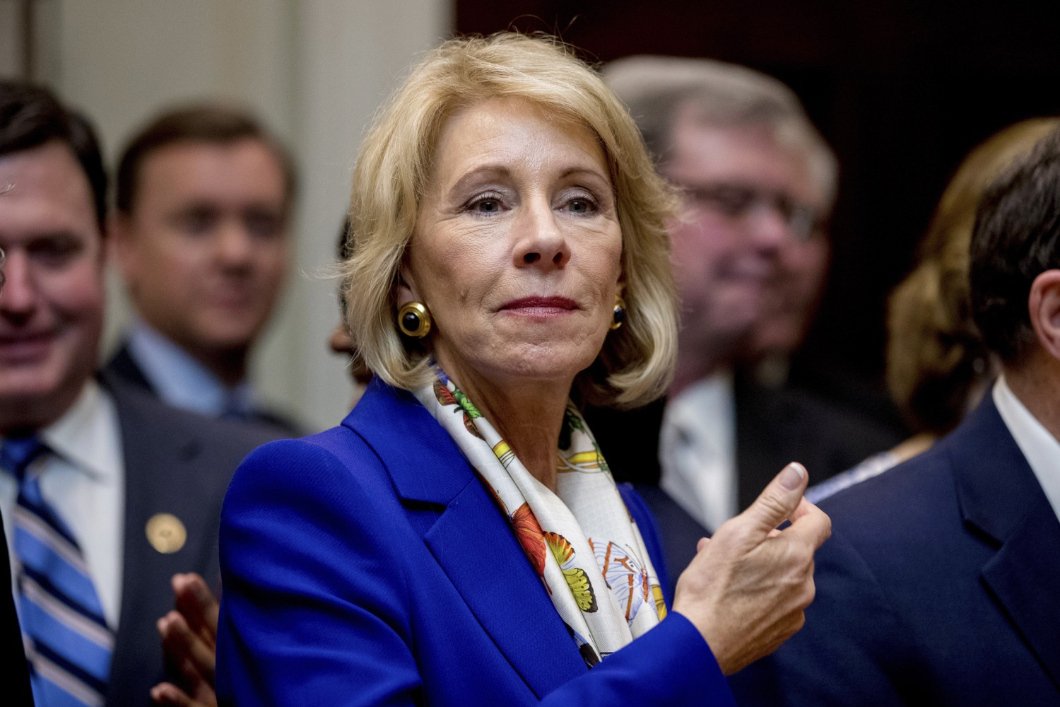 Image result for Security for Betsy DeVos costing Education Dept nearly $8M for 8 months