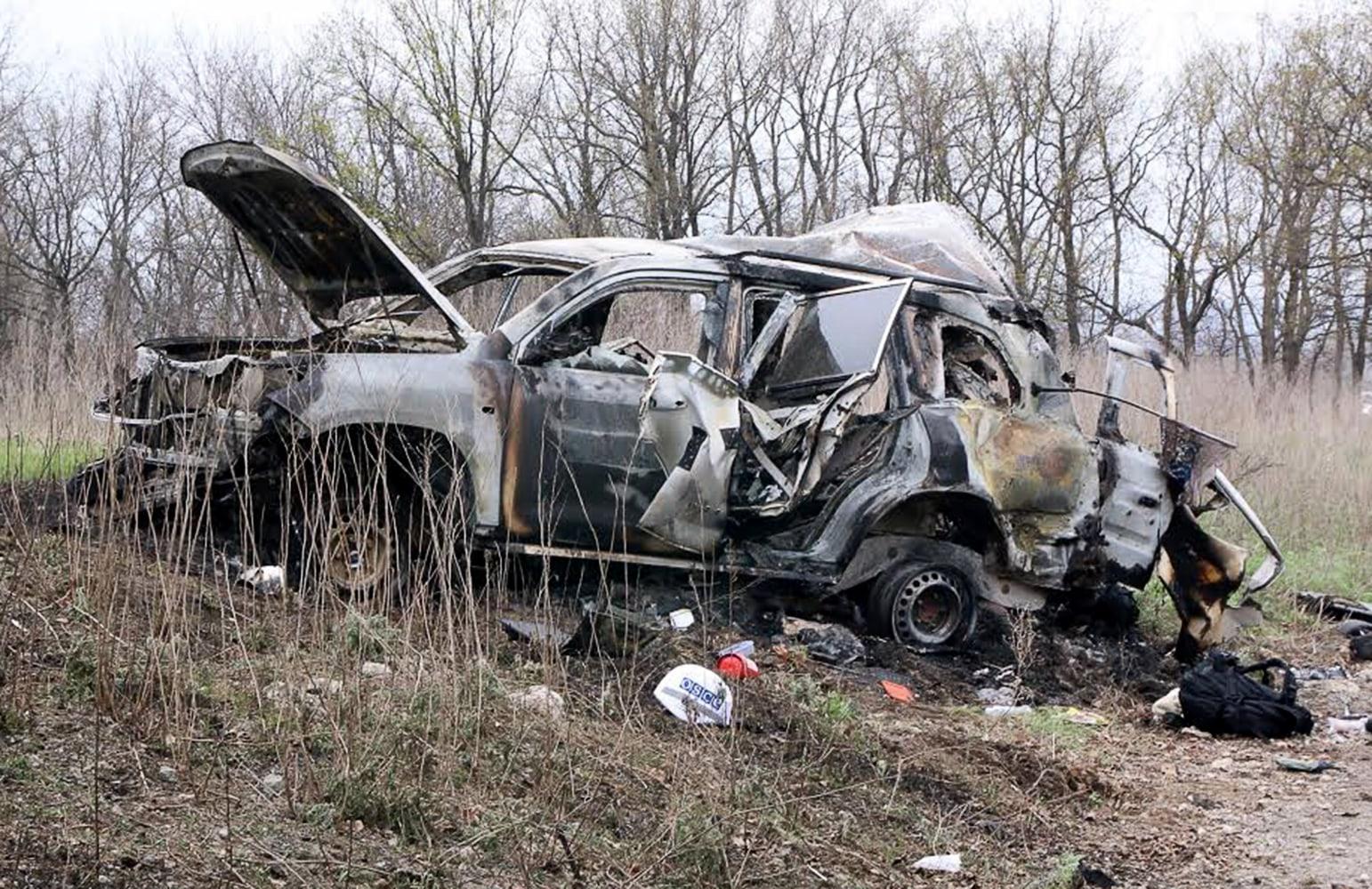 American monitor killed in Ukraine when mine hits vehicle