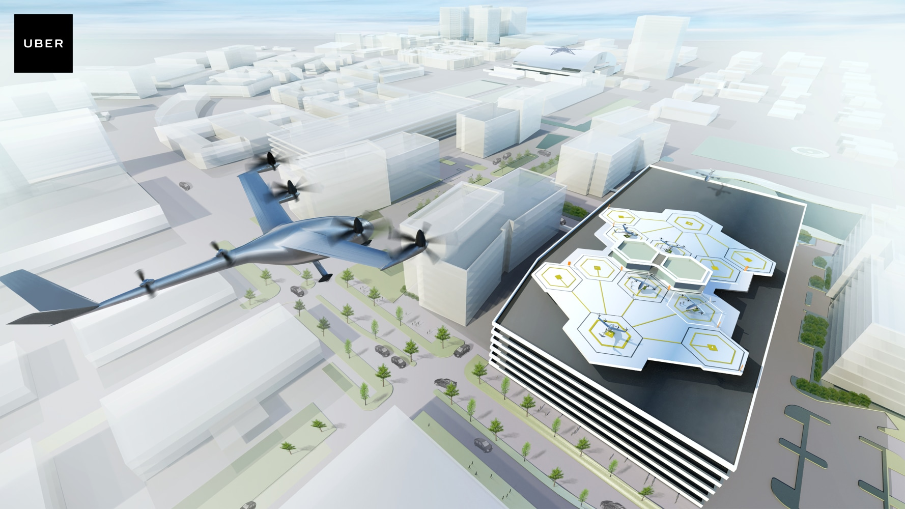 uber promises flying taxis dallas