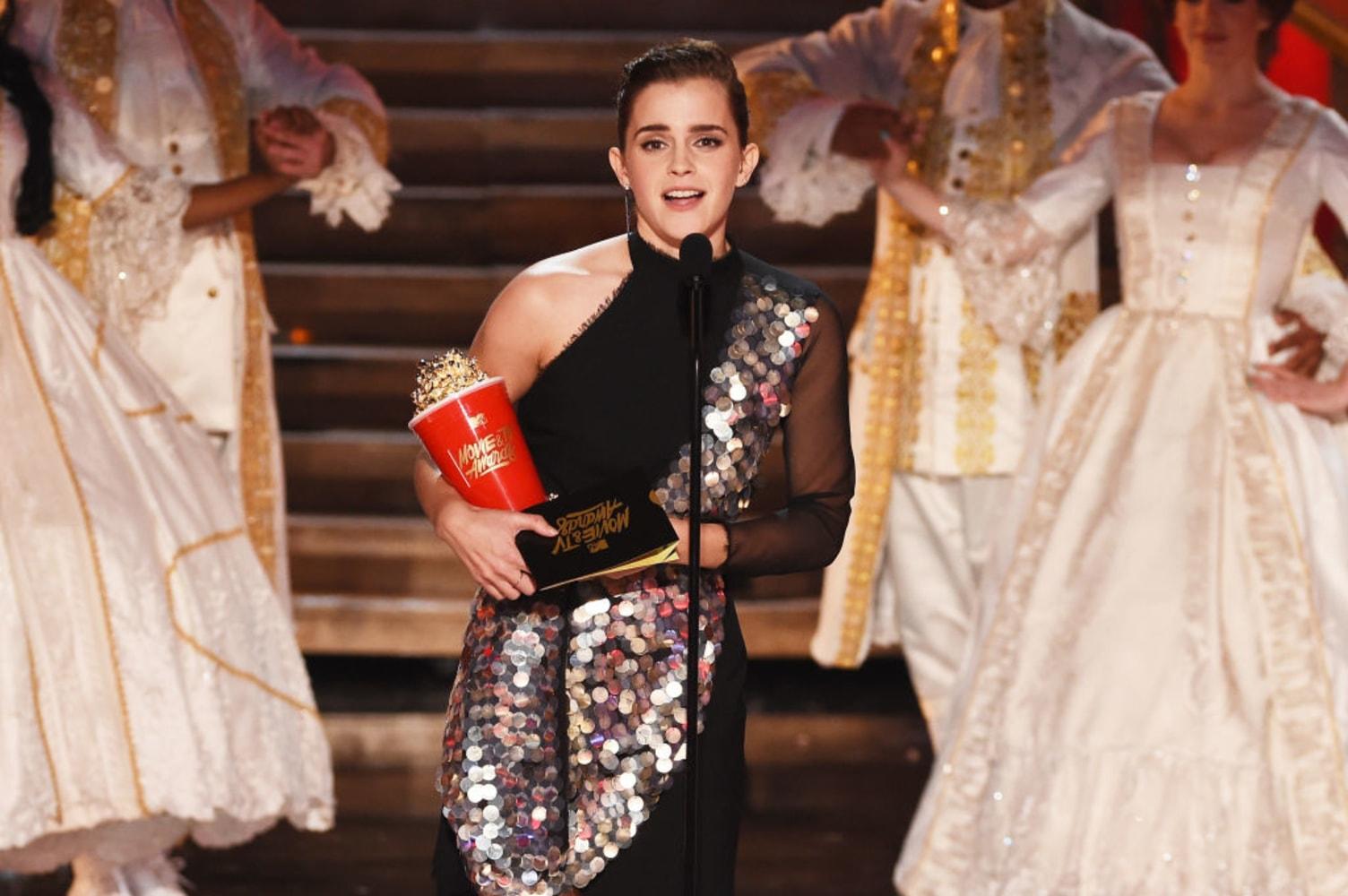 Emma Watson wins MTV's first gender-neutral acting nod