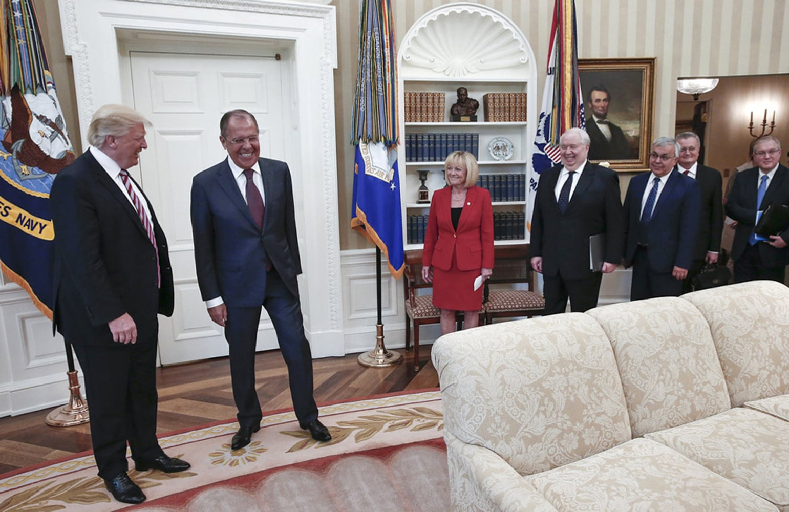 Image result for photos of russians recent visit to the white house