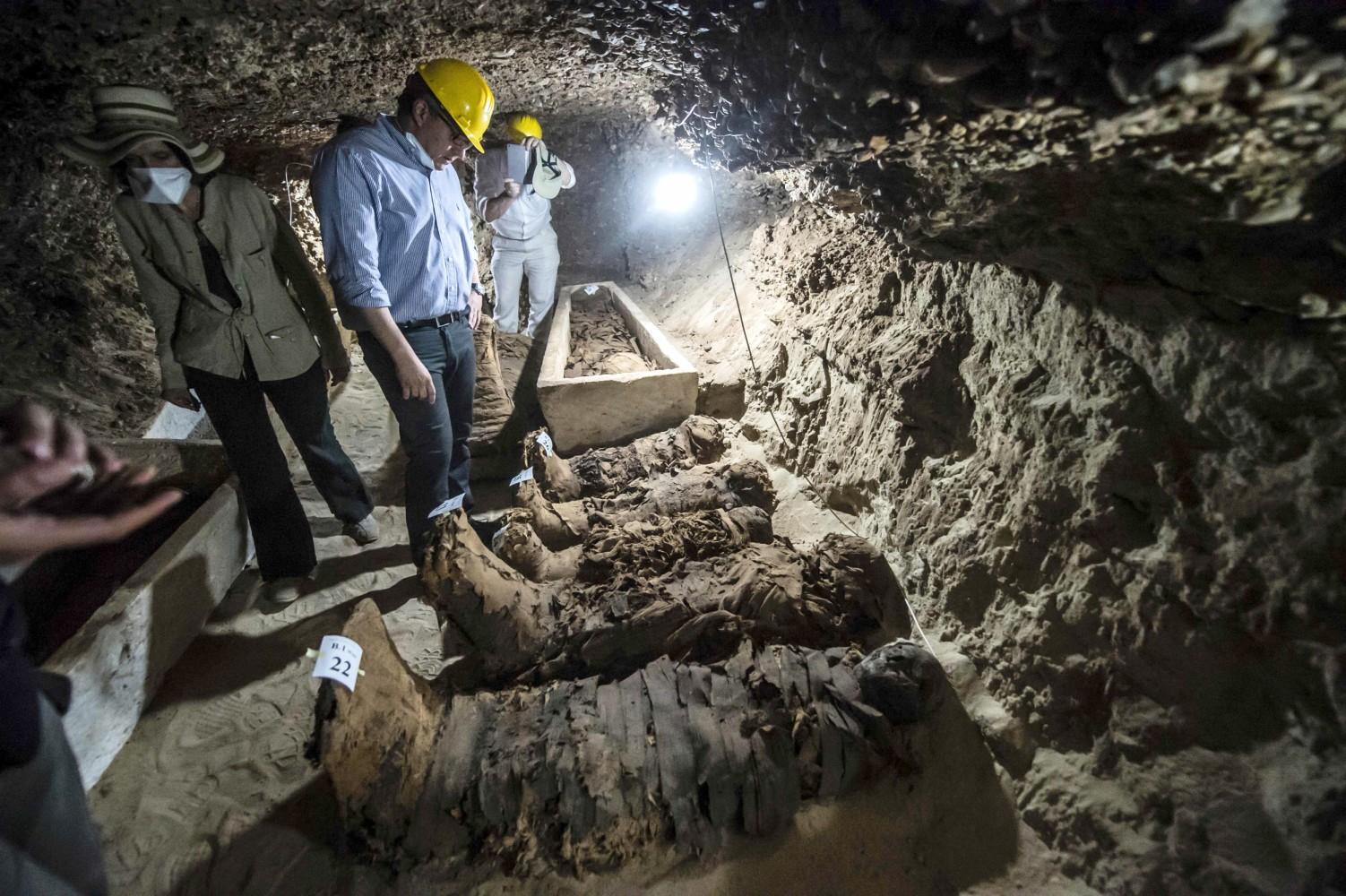Image result for 17 mummies found in egypt desert