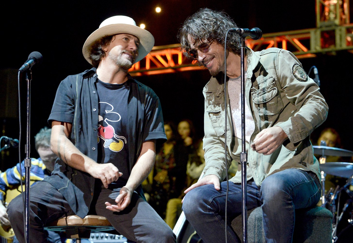 Eddie Vedder And Chris Cornell Chris Cornell, Dead of...