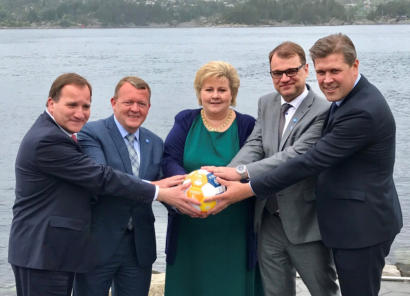 Nordic leaders clutch soccer ball in hopes of going viral