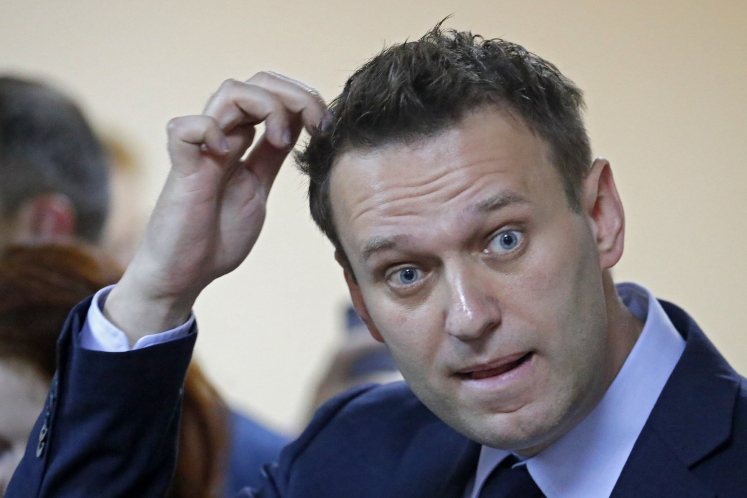 Russian opposition leader Navalny detained ahead of protest