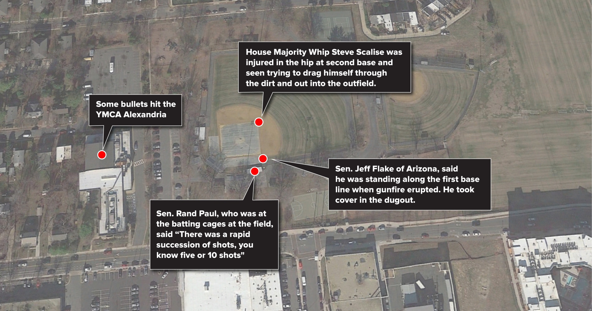 Congressman Steve Scalise Three Others Shot At Alexandria - Washington dc capitol map