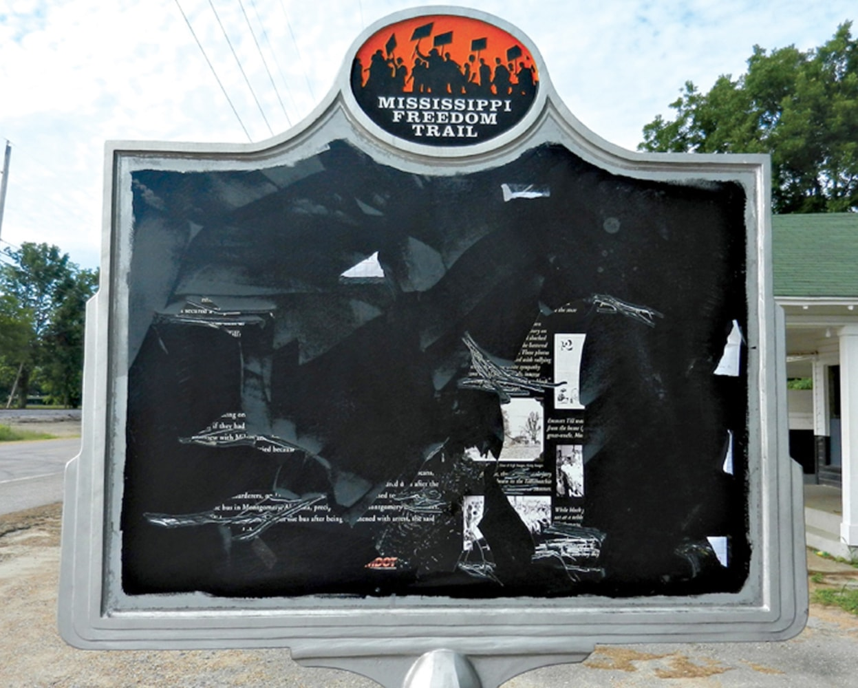 Another sign marking a scene from Emmett Till's murder has been vandalized