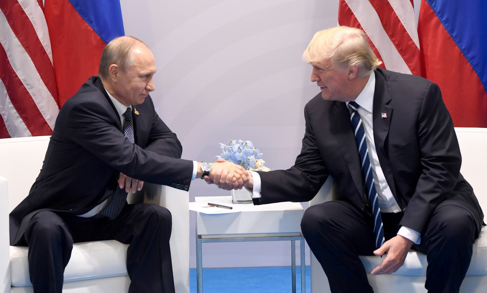 Image result for Images of Putin and Trump on July 7, 2017