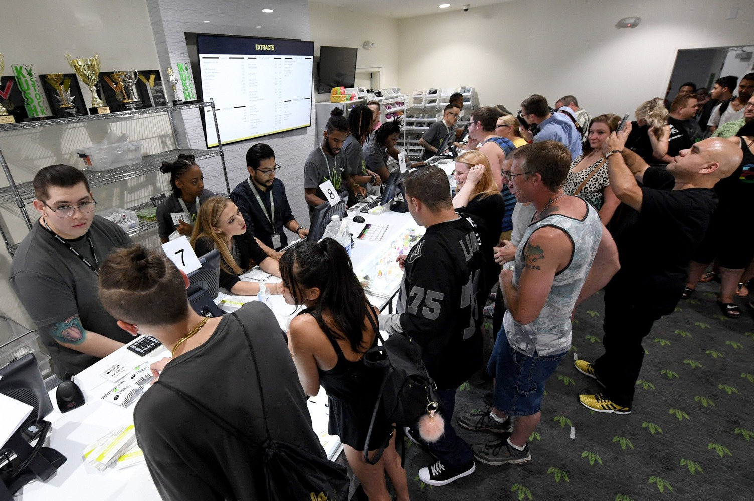 Image Customers buy cannabis products at Essence Vegas Cannabis Dispensary
