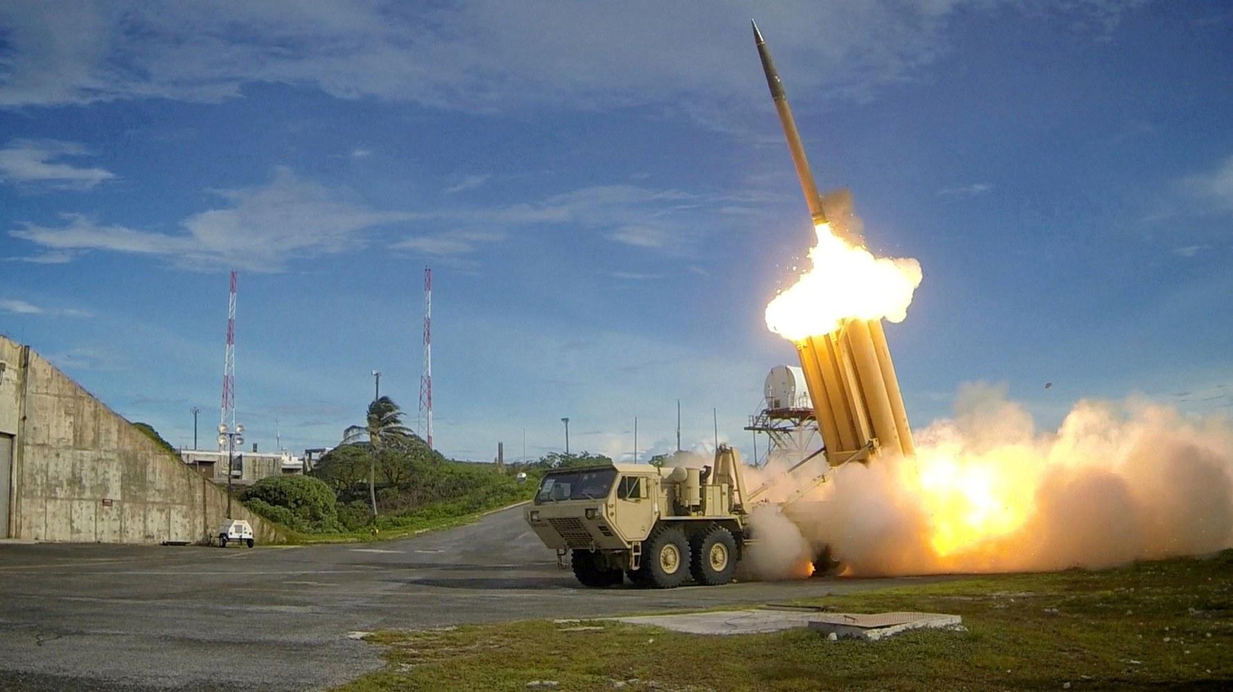 Image result for US tests missile medium-range target ballistic missile (MRBM) over the Pacific Ocean