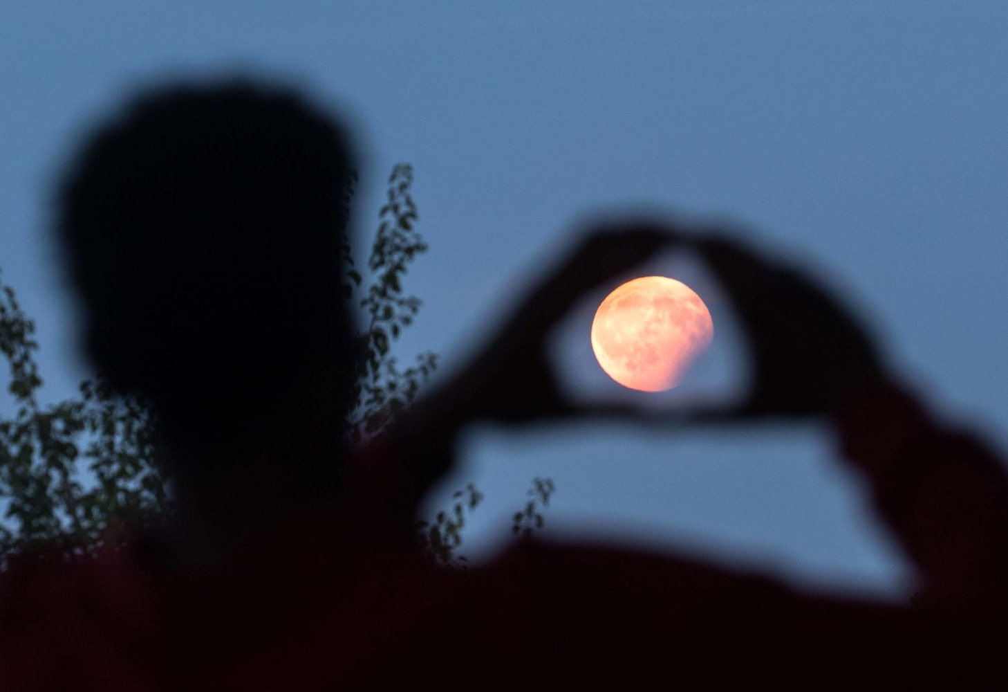 Stargazers Enjoy Lunar Eclipse Across Parts of Europe and Asia - NBC News