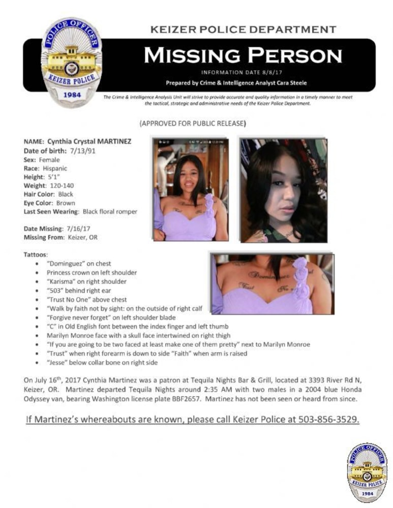 Person of Interest Named in Case of Missing Oregon Mother NBC News – Missing Person Flyer