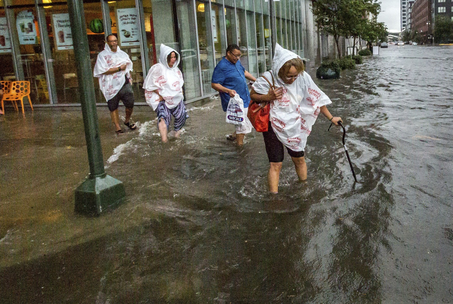 Some streets in New Orleans are flooding as Harvey reemerges in Gulf