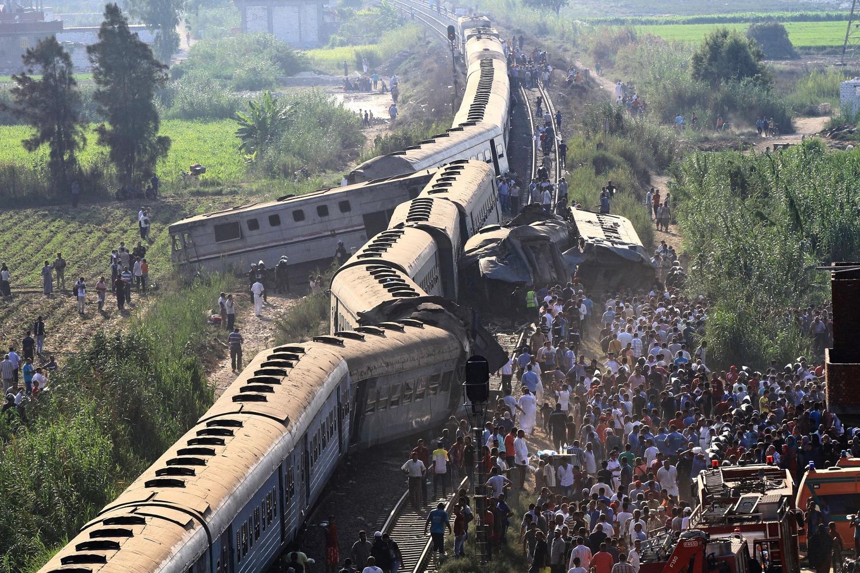44 killed, 180 injured at Egypt Train Collision