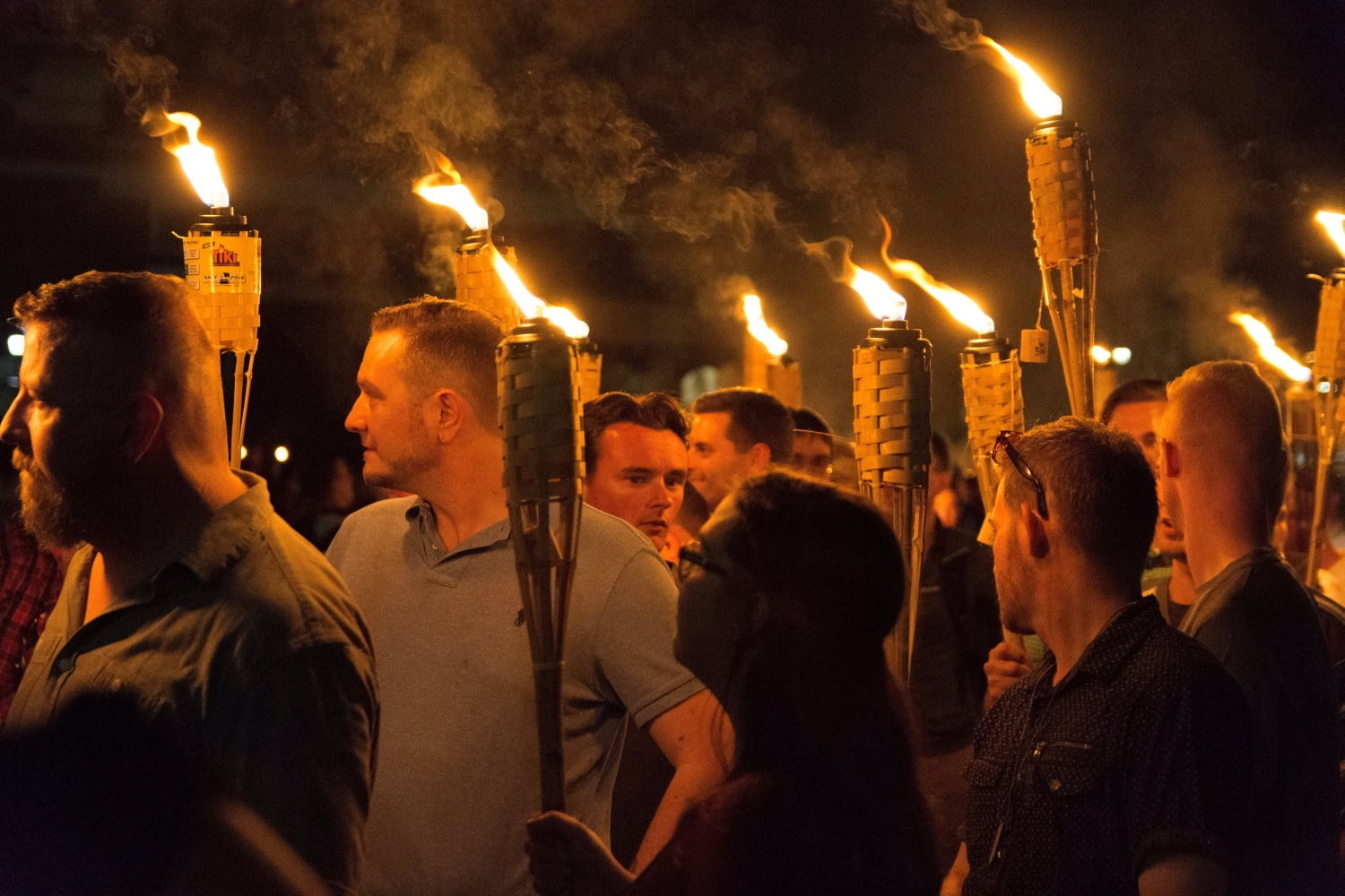 Image White nationalists carry torches on the grounds of the University of Virginia