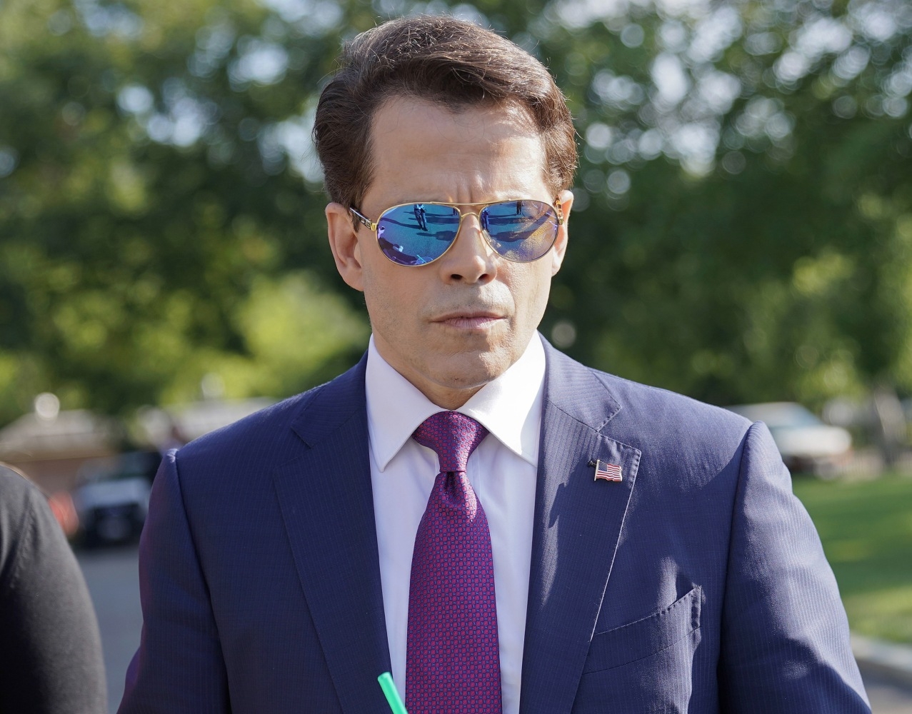 Anthony Scaramucci walks back to the West Wing of the White House in Washington on July 25. Pablo Martinez Monsivais  AP