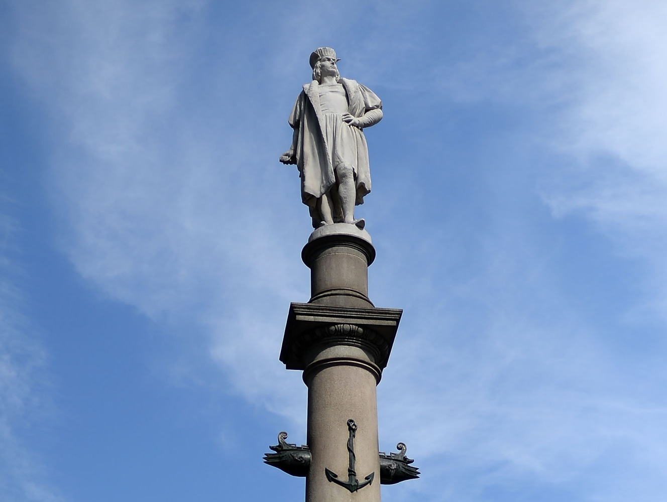 58857ba529d3 The statue of Christopher Columbus by Gaetano Russo stands in Columbus  Circle in New York. Andrew H. Walker   Getty Images file
