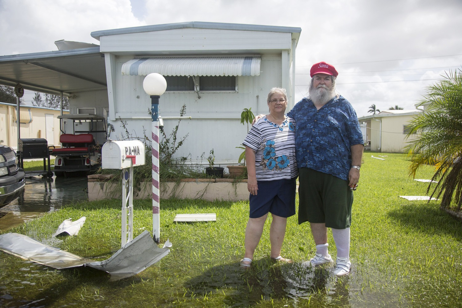 Image Marcia And Paul Ashby In Holiday Manor Naples Florida After Hurricane Irma