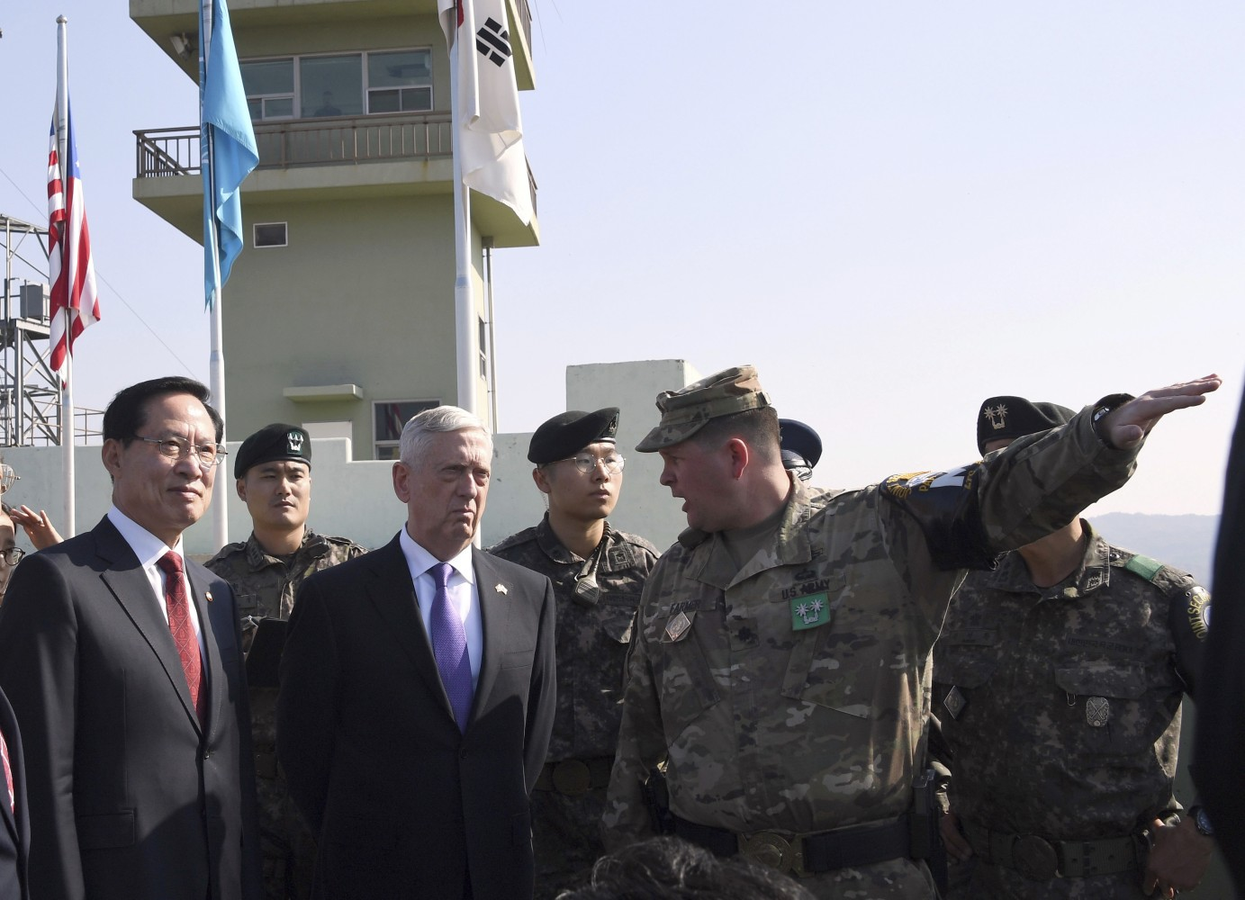 Image result for mattis at dmz, photos