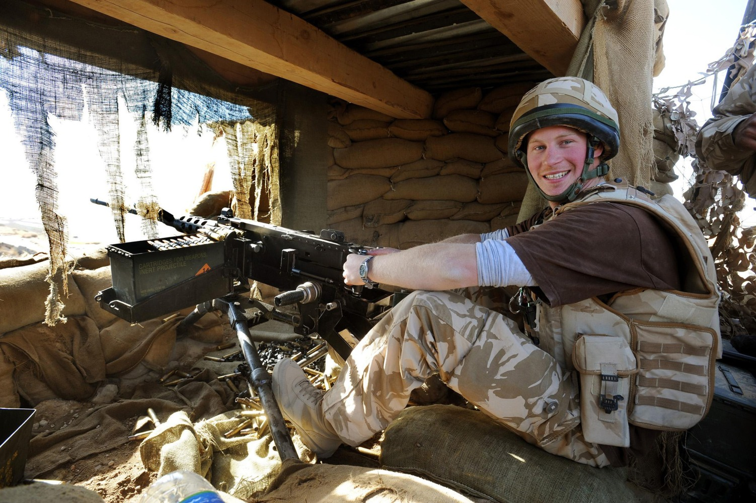 Image Prince Harry served two front line tours in Afghanistan