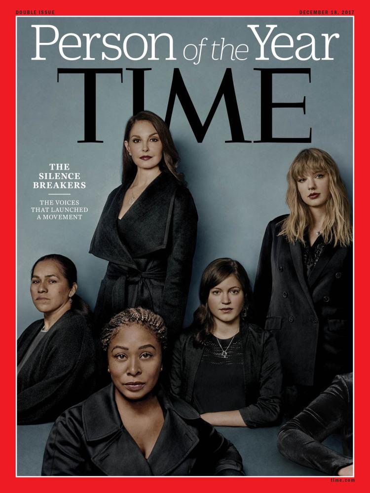 Time's Person of the Year is 'The Silence Breakers' of #MeToo Movement ile ilgili görsel sonucu