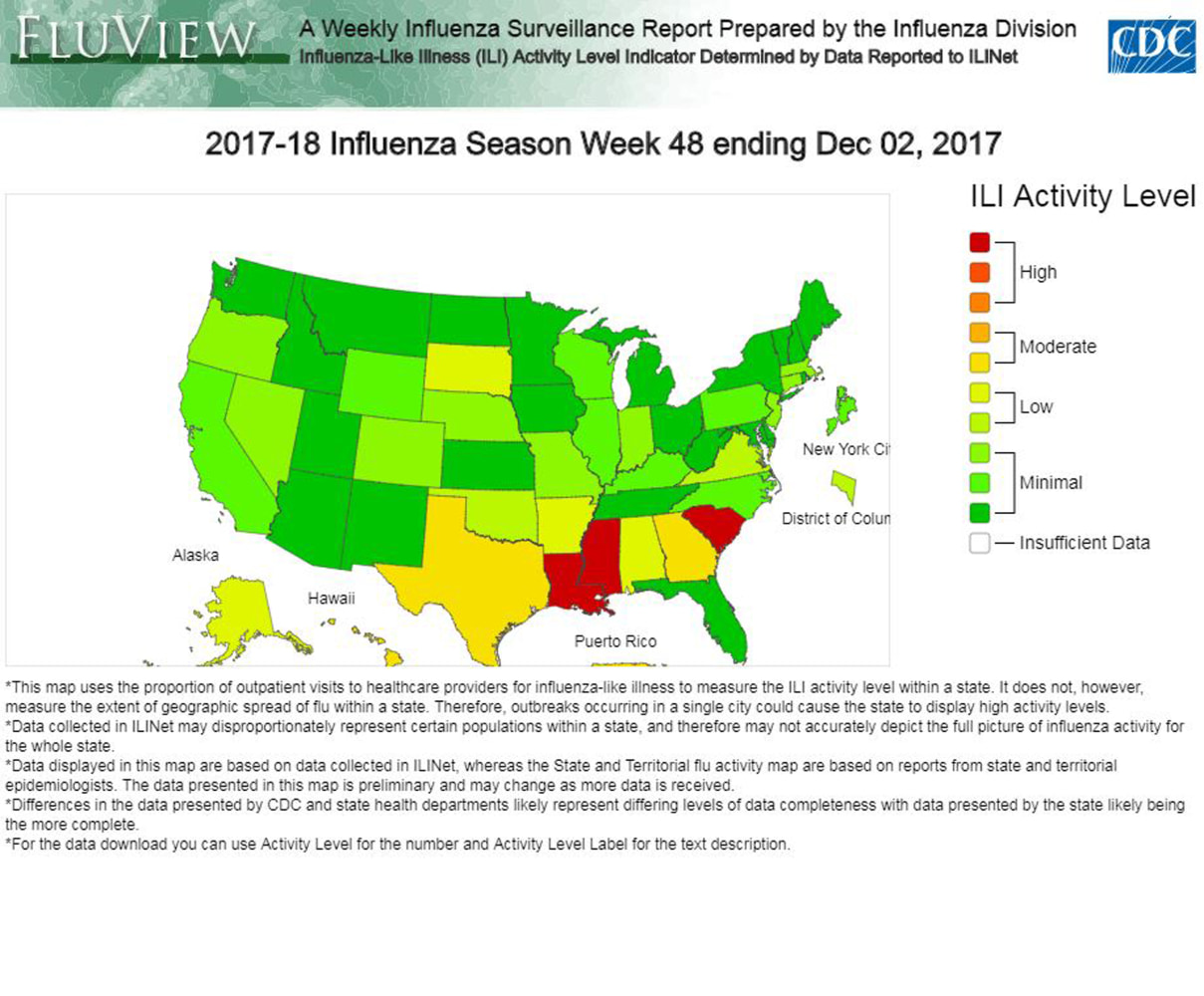 Flu virus now widespread in Georgia