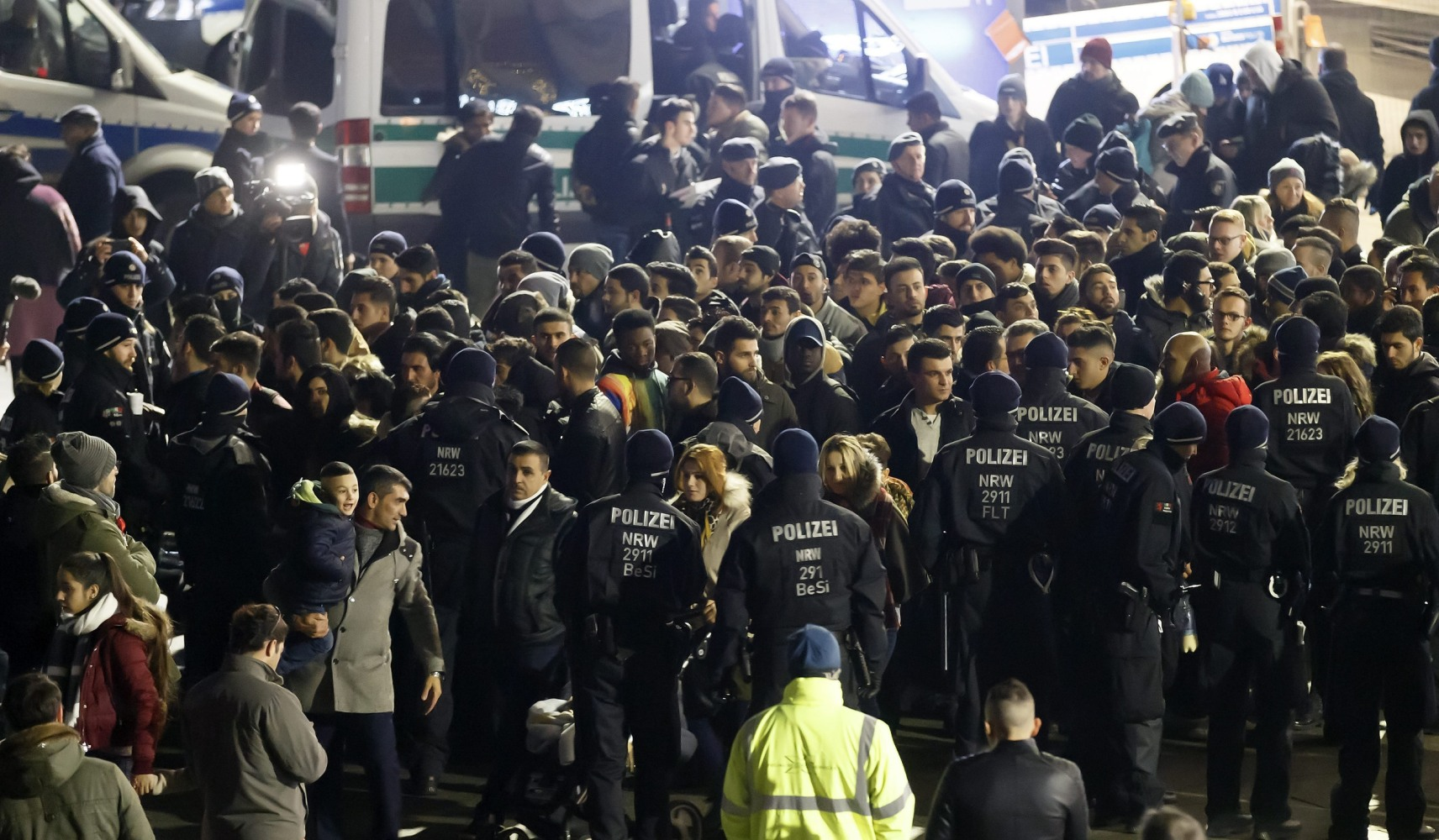 Heavy security kept Cologne calm on New Year's Eve