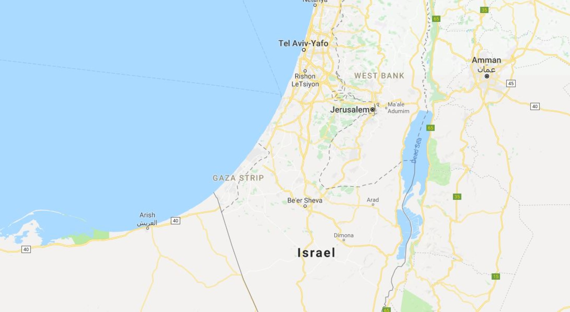 Beer Sheva Israel Map%0A Image  Map shows location of the Gaza Strip