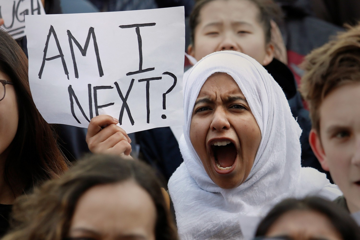 Image Students Participate In A March In Support Of The National School Walkout In The