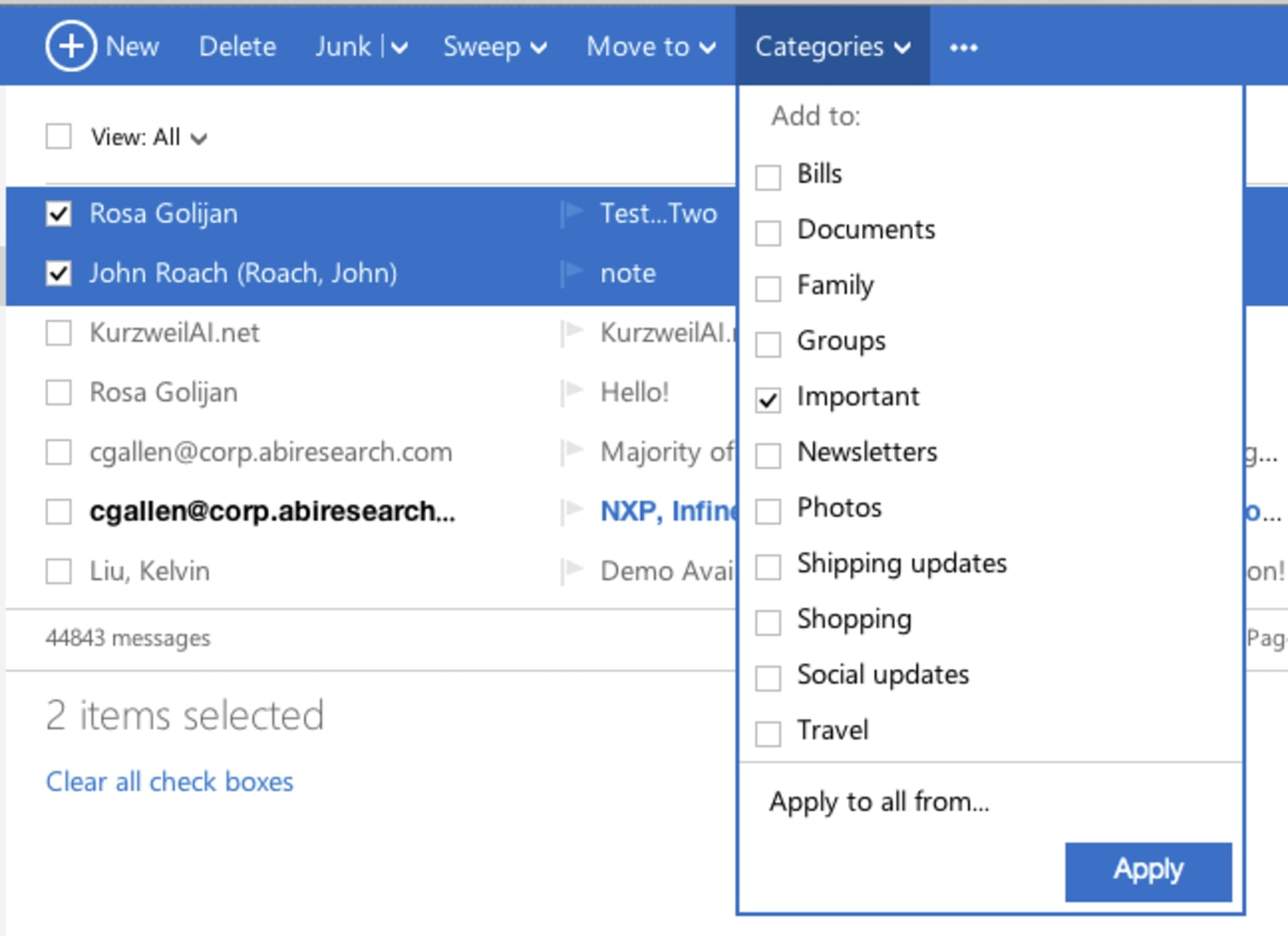 how to allow certain email to a folder gmail