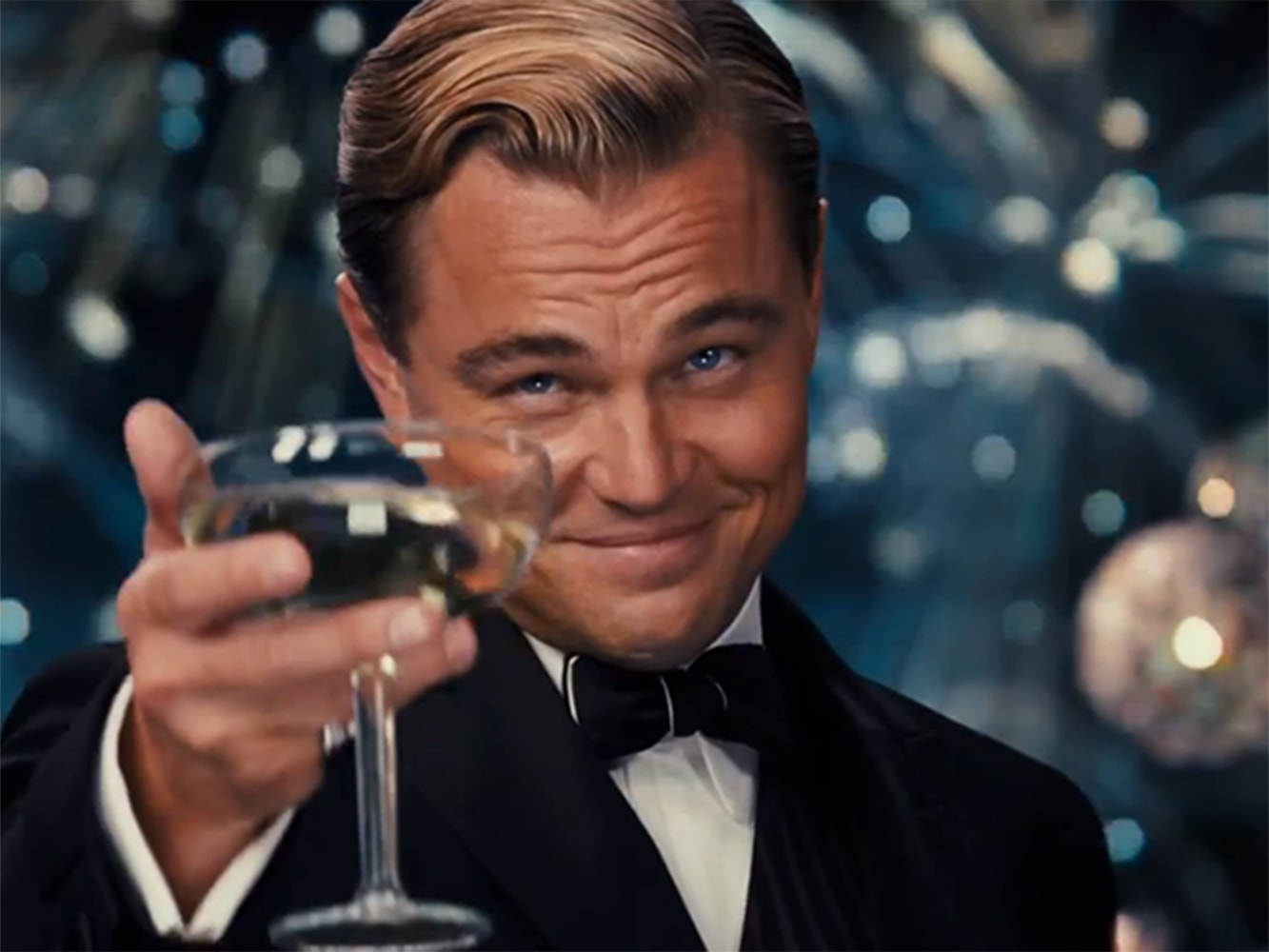 cheers let s toast leonardo dicaprio again and again and