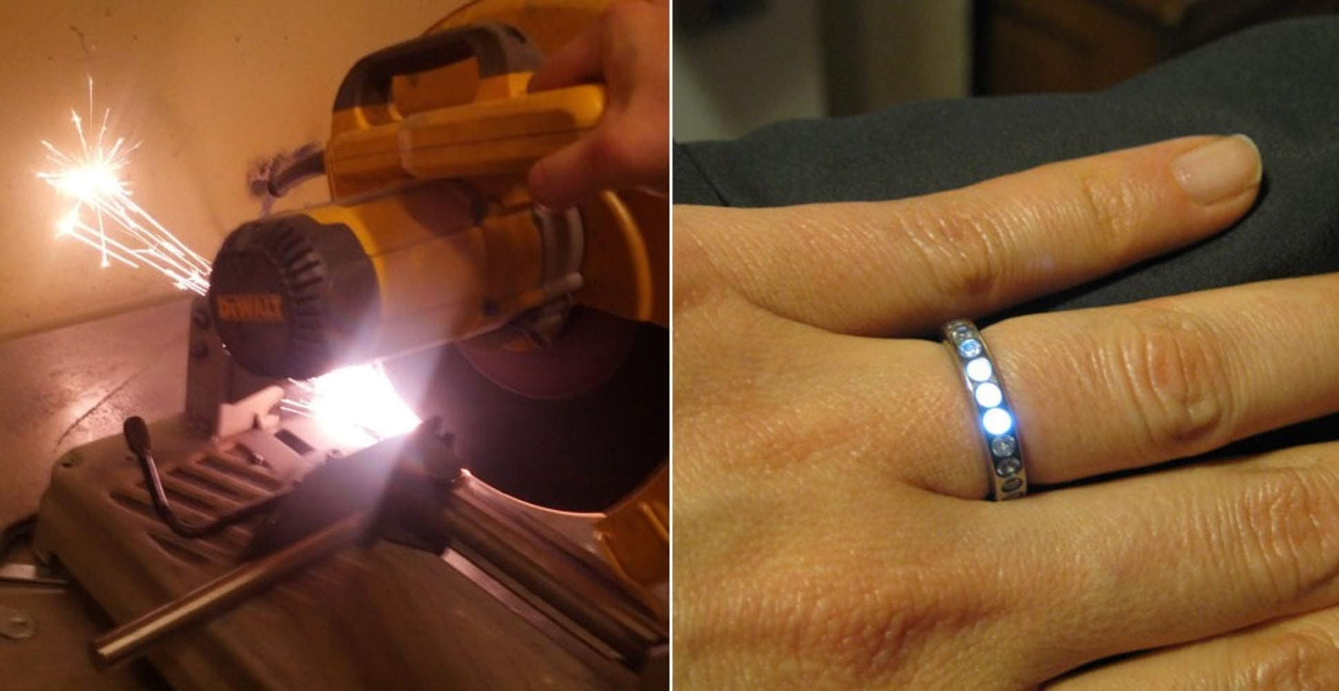 Light Of My Life Homemade Engagement Ring Glows When Fiance Is