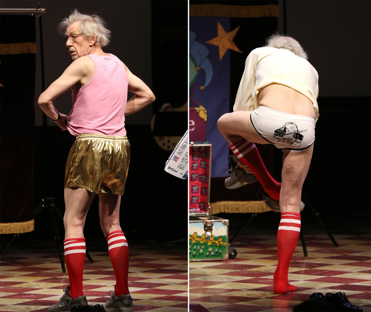 Ian McKellen unveils Gandalf underpants at charity event ...