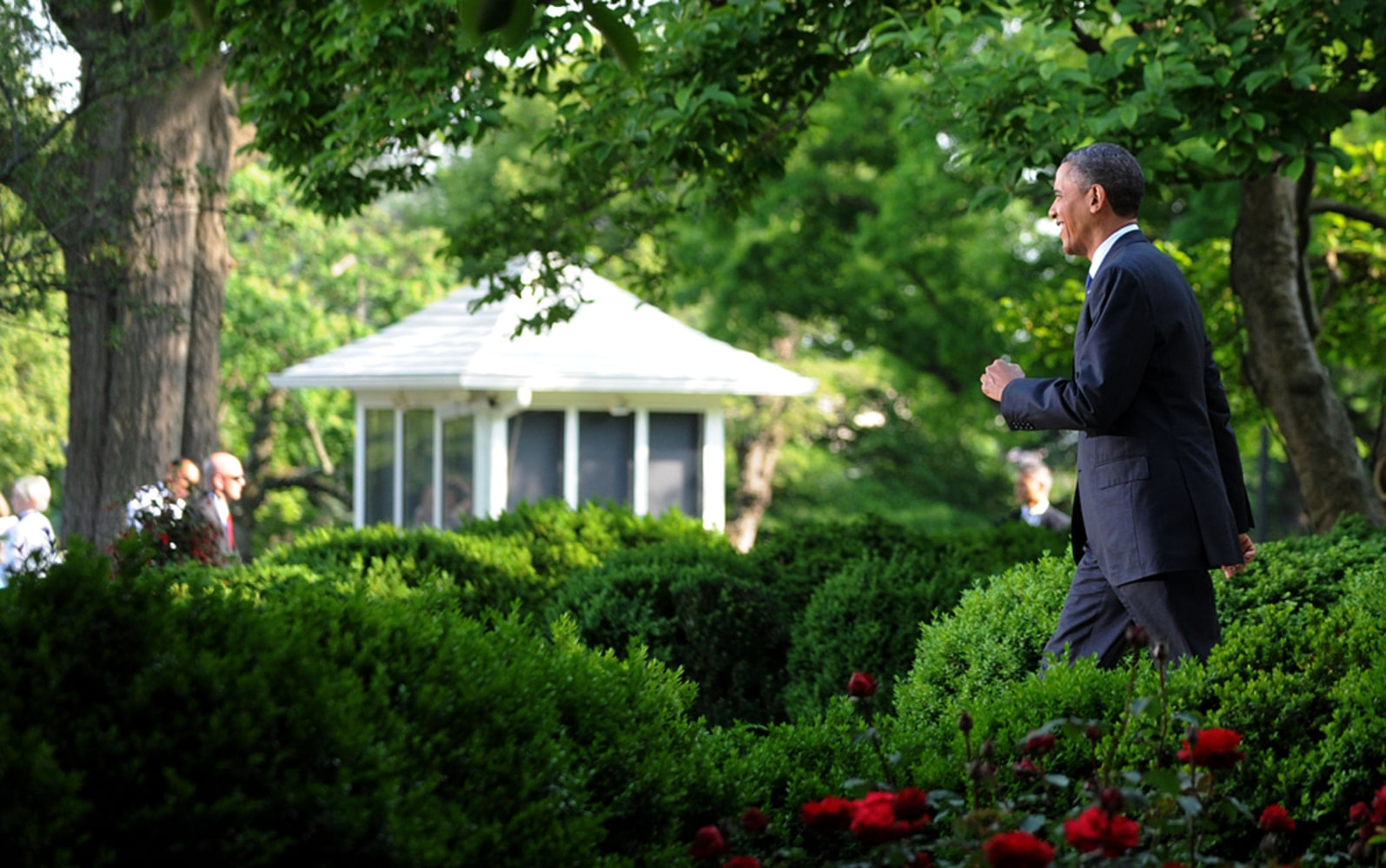 Presidential Party Obama Hosts Wedding Of White House