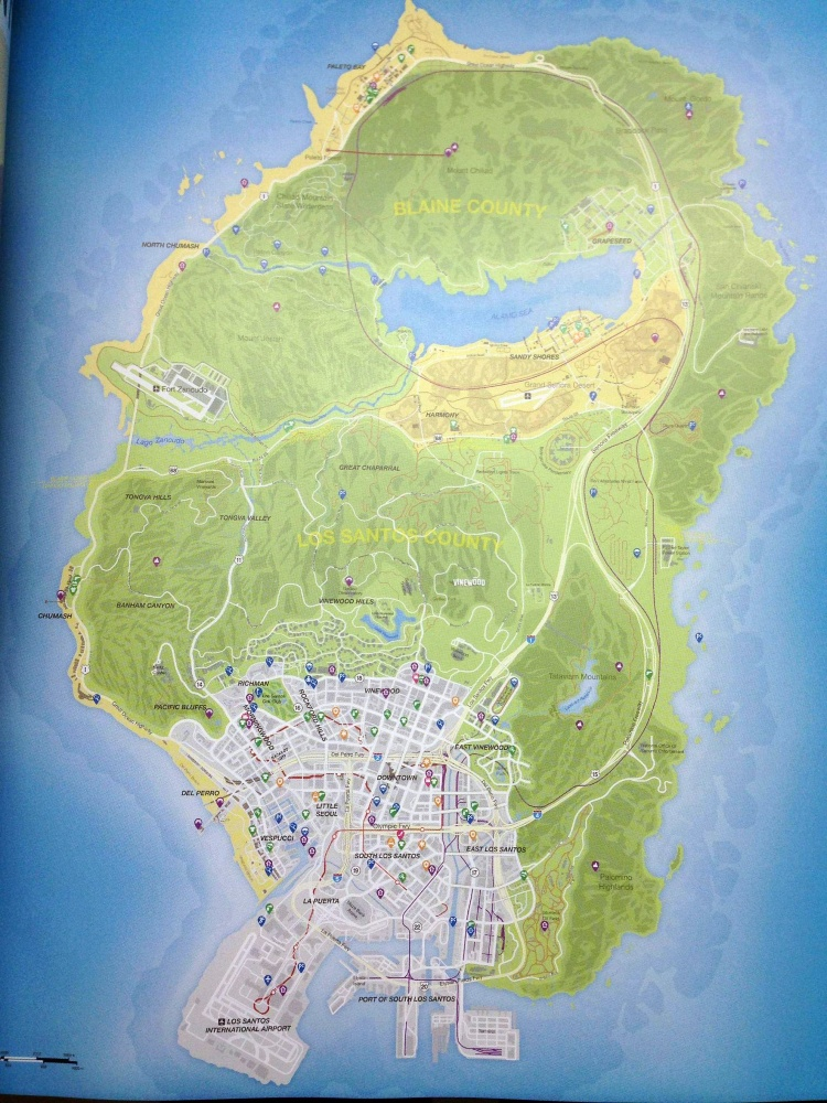 Grand Theft Auto 5 Map Leaked Were Gonna Need A Bigger