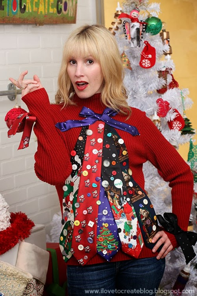Create your own 'ugly' Christmas sweater with DIY ideas from